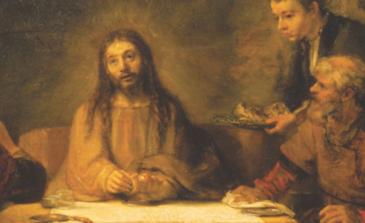 Old painting of Jesus